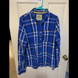 Men's hollister  casual button down long sleeve
